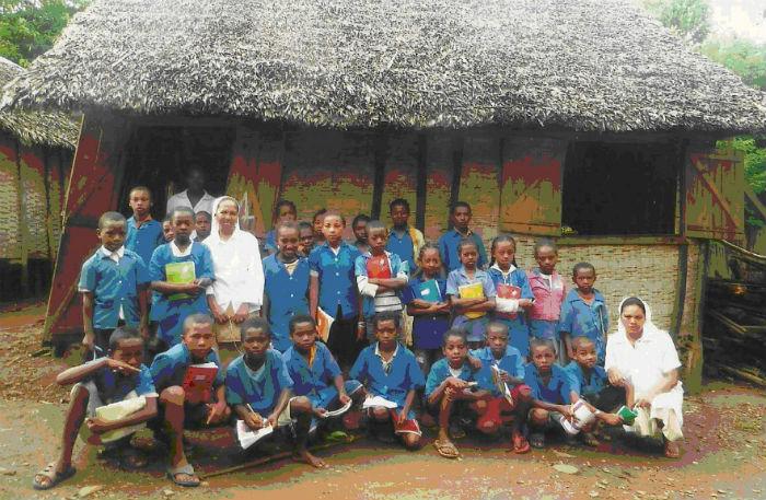 Classe de 7ème de l`école Lucia dos Santos à Mahambo